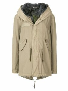 Mr & Mrs Italy fur lined midi parka - Neutrals