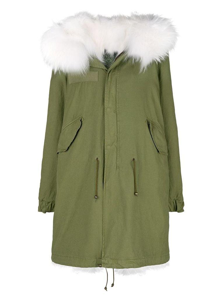 Mr & Mrs Italy fur hood parka coat - Green