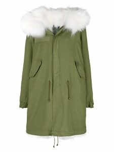 Mr & Mrs Italy fur hood parka coat - Green