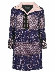 Boutique Moschino broderie anglaise padded coat - Purple