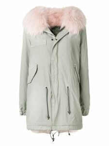 Mr & Mrs Italy trimmed hooded parka - Neutrals