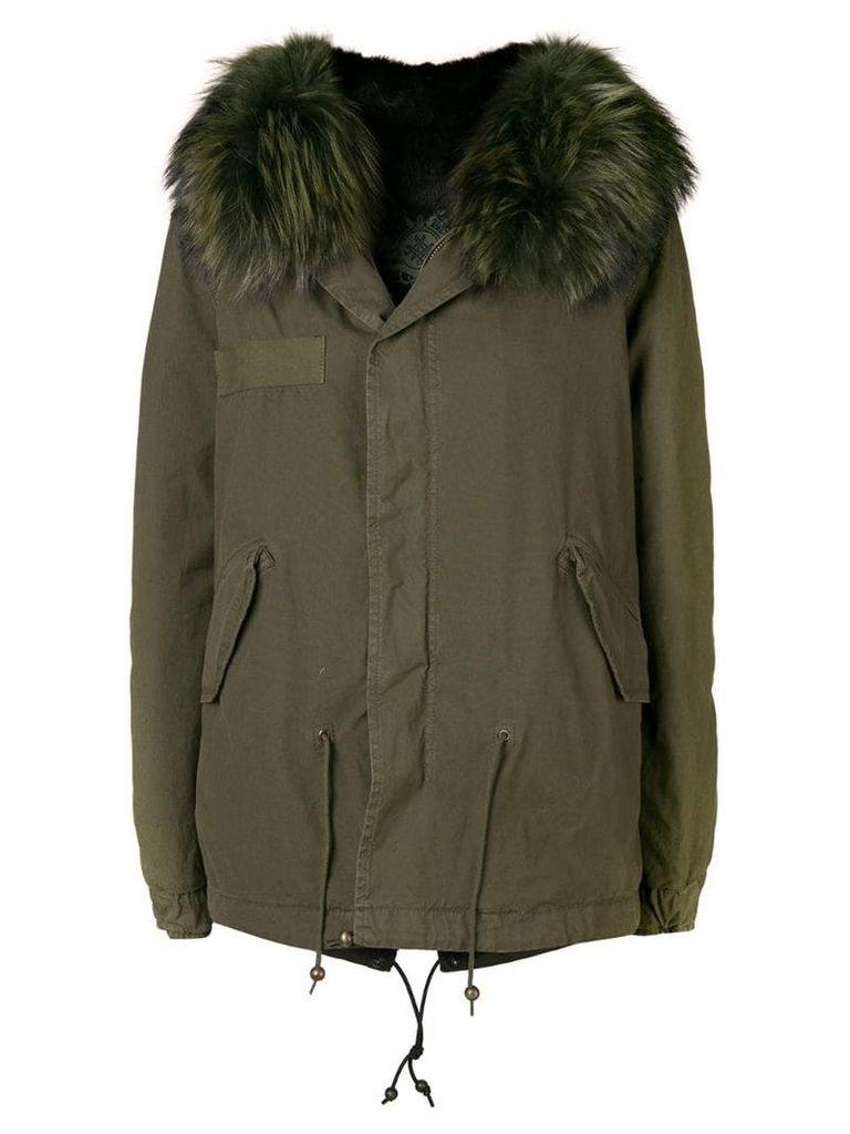 Mr & Mrs Italy trimmed hooded parka - C3040 Dark Green