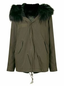 Mr & Mrs Italy trimmed hooded parka - Green