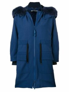 Fendi hooded parka coat - Blue