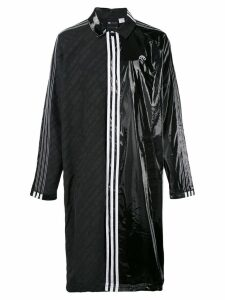Adidas Originals By Alexander Wang contrasting panel logo coat - Black