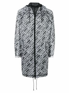 Adidas Originals By Alexander Wang logo print parka - White