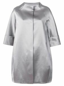 Gianluca Capannolo cropped sleeved coat - Grey