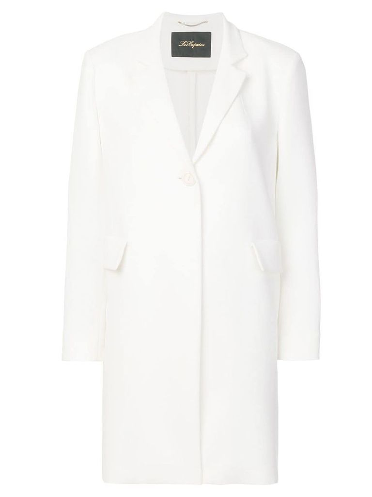 Les Copains single breasted coat - White