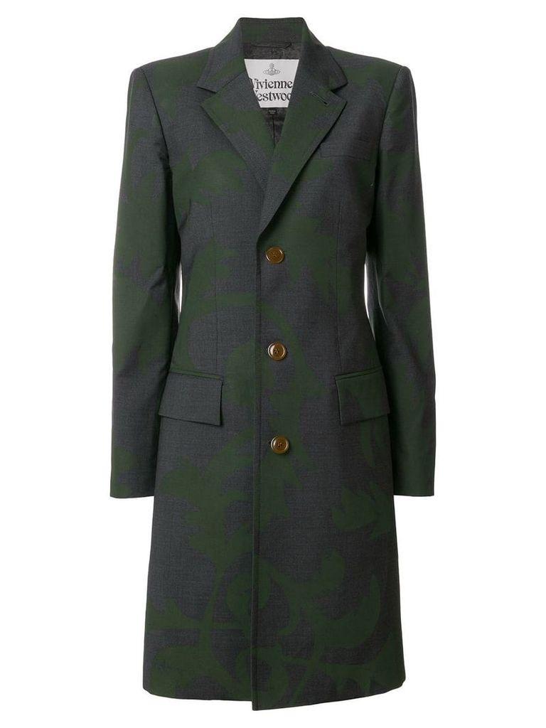 Vivienne Westwood brocade style printed coat - Grey