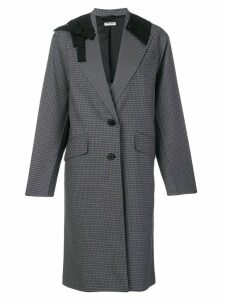 Miu Miu contrast collar coat - Grey