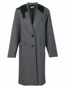 Miu Miu contrast collar coat - Grey