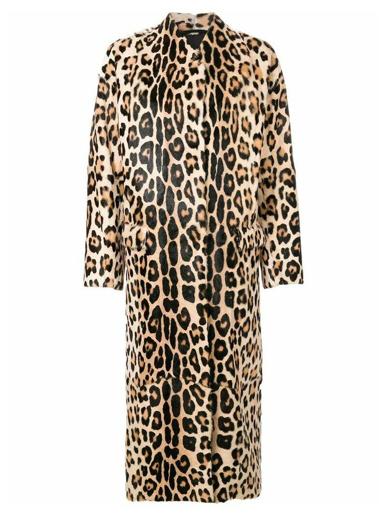 Liska leopard print coat - Brown