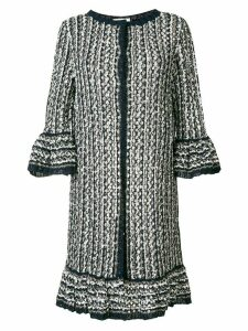 Charlott long knit coat - Blue