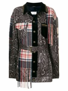 Maison Margiela patchwork fitted coat - Multicolour