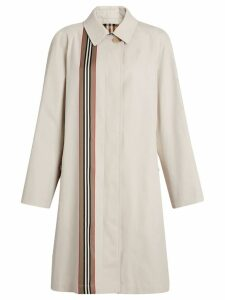 Burberry Heritage Ribbon Cotton Gabardine Car Coat - Neutrals
