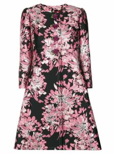 Dolce & Gabbana floral embroidered tailored coat - Pink
