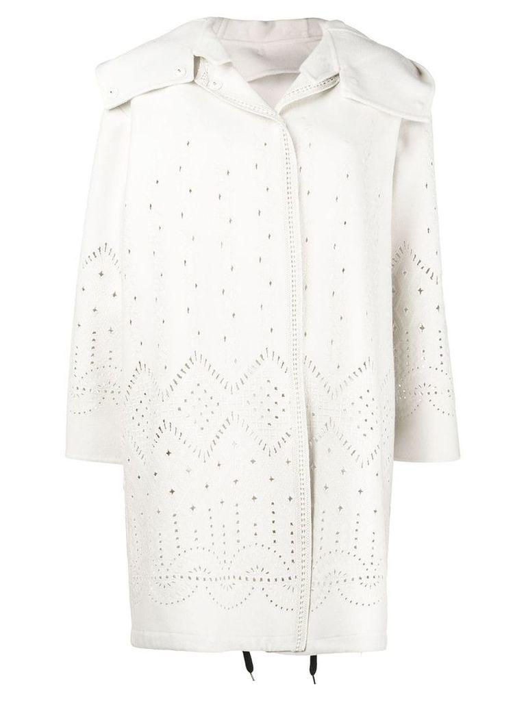 Ermanno Scervino perforated midi coat - Neutrals