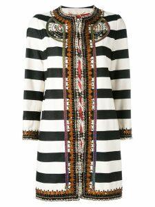 Bazar Deluxe striped coat - Black