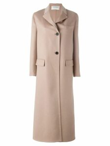 Valentino single breasted long coat - Neutrals