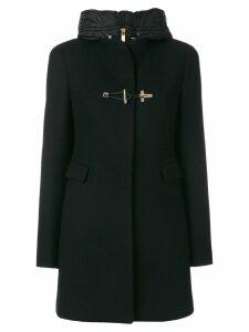 Fay hooded coat - B999 - BLACK