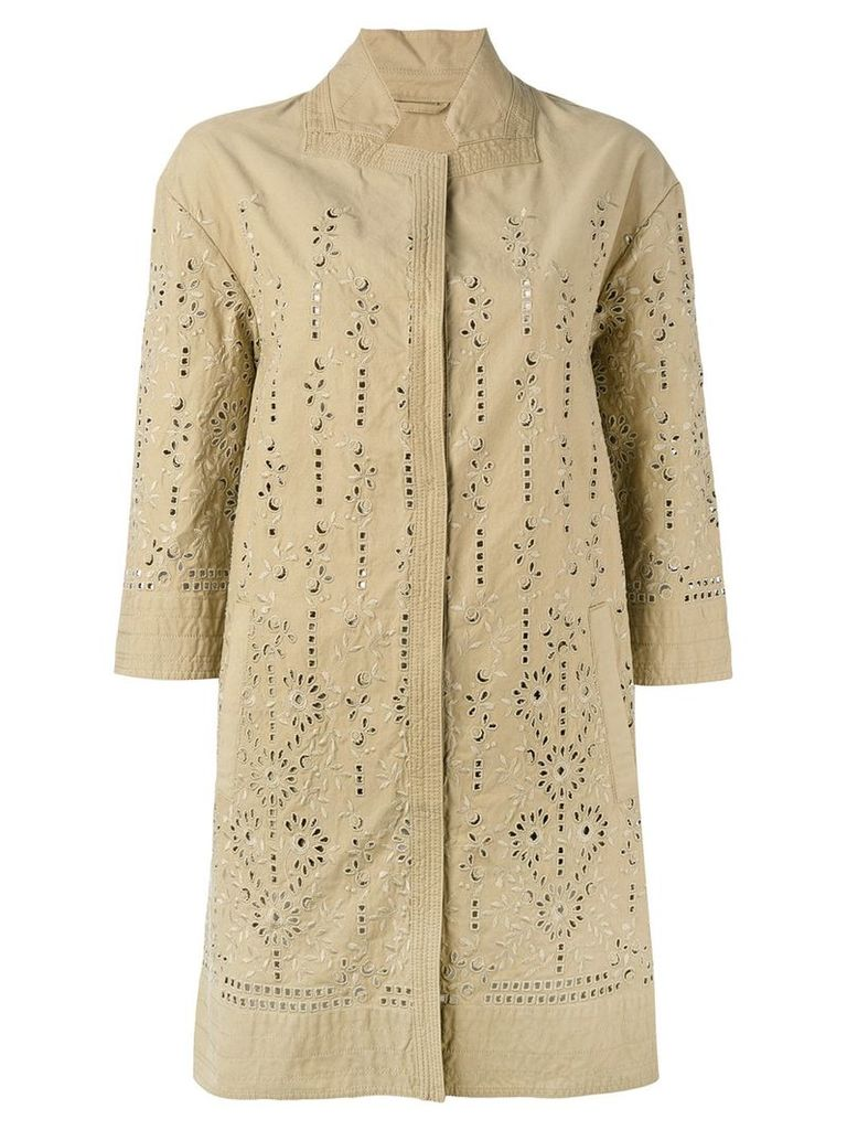 Ermanno Scervino broderie anglaise coat - Neutrals