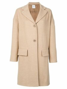 Agnona flap pocket coat - NEUTRALS