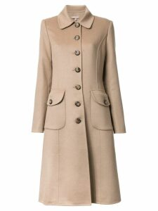 Michael Kors Collection buttoned mid coat - Brown