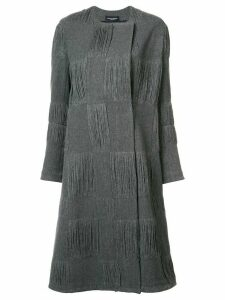 Narciso Rodriguez textured check coat - Grey