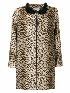 Antonio Marras leopard printed coat - Brown