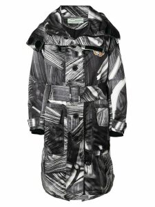 Off-White printed trench - Black
