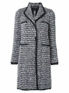 Giambattista Valli tweed long coat - Black