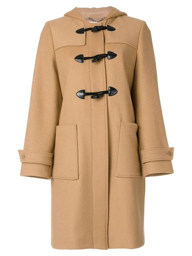 Stella McCartney hooded duffle coat - Brown