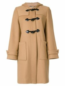 Stella McCartney hooded duffle coat - Brown