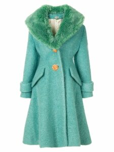 Miu Miu fur collar coat - Green