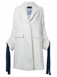 Rossella Jardini drawstring sleeve coat - White