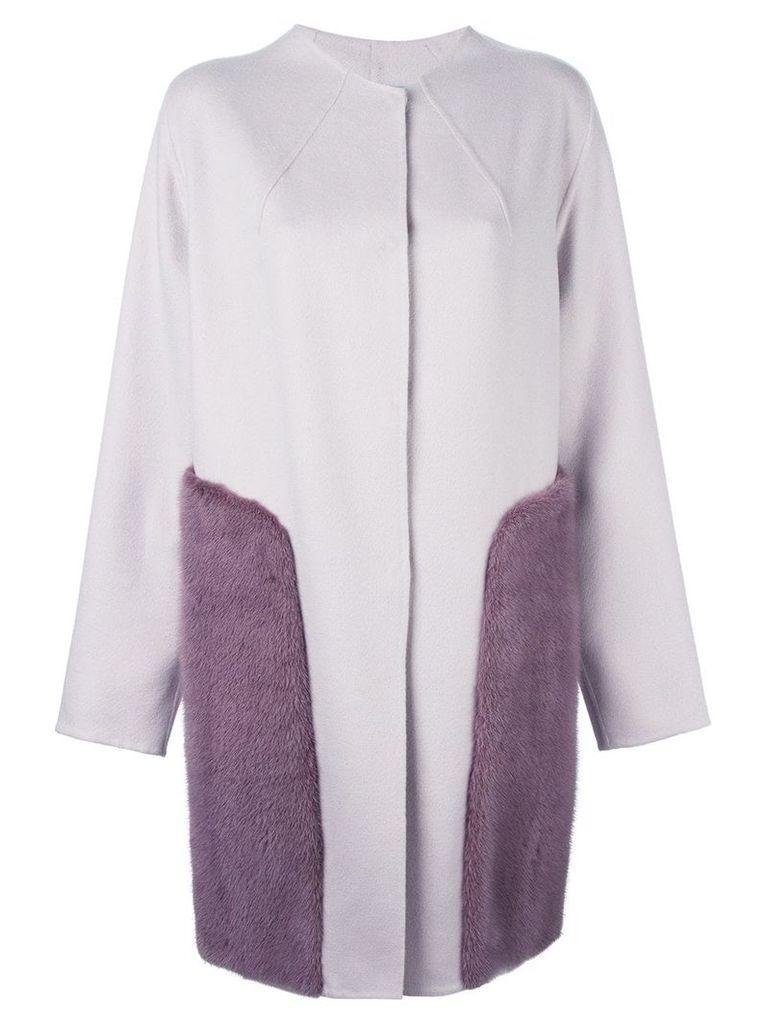 Liska cashmere panel coat - Pink