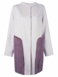 Liska cashmere panel coat - Pink