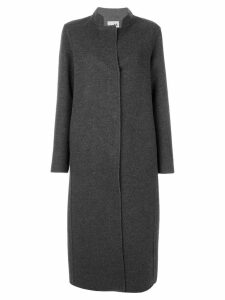 Manzoni 24 contrast lapel long coat - Grey