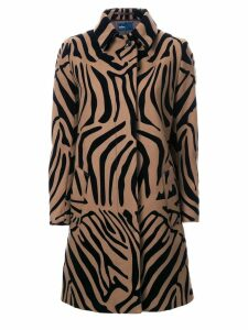 Kolor animal print coat - Brown