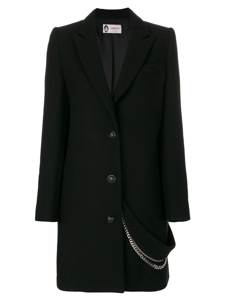 Lanvin chain embellished coat - Black