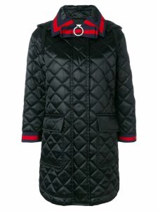 Gucci quilted hooded coat - Black