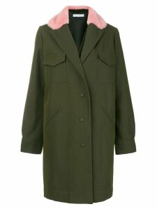 Inès & Maréchal fur collar coat - Green