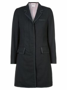 Thom Browne classic chesterfield overcoat - Black