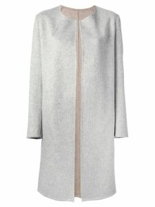 Liska round neck coat - Grey