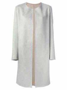 Liska round neck coat - Grey