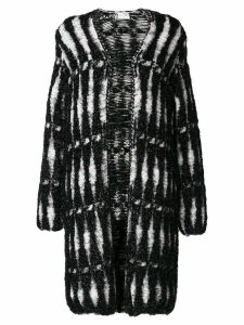 Lanvin metallic woven coat - Black