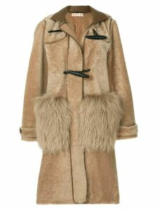 Marni shearling duffle coat - Brown