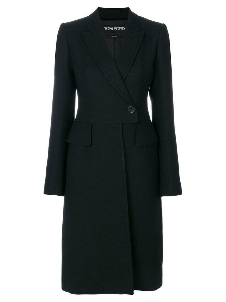 Tom Ford single breasted coat - Black