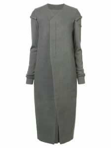 Rick Owens long off-centre coat - Grey