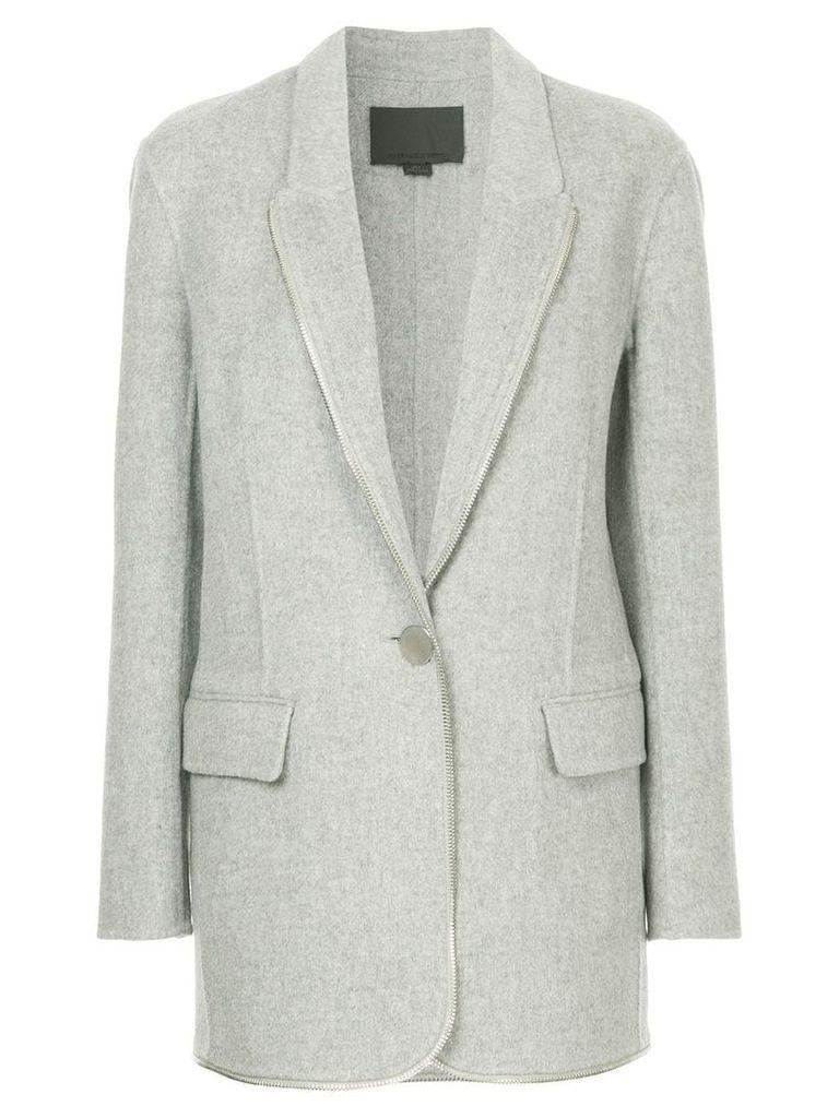 Alexander Wang single-breasted coat - Grey